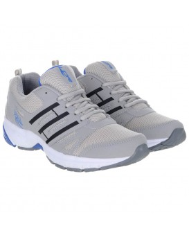Grey Blue Men's Sports Running Shoes